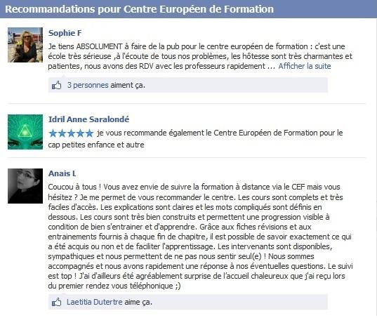 avis centre européen de formation