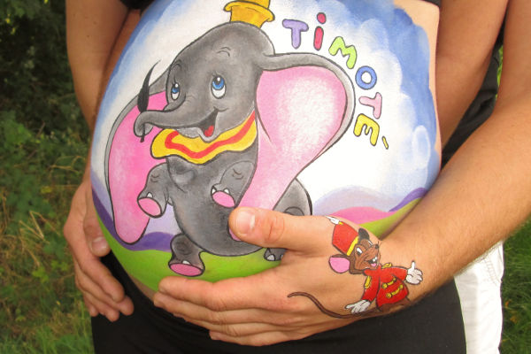 Belly Painting Dumbo Disney