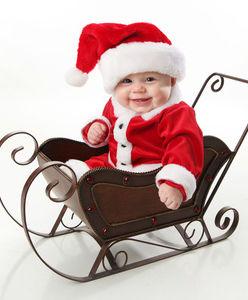 Bébé déguisé en Père Noël