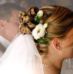 Joli chignon de mariée