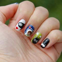 Ongles nail art régressif