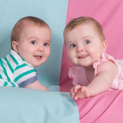 Jumeaux bleu rose