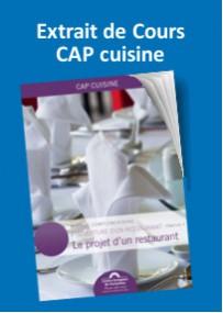 Lire un extrait de cours CAP cuisine création restaurant