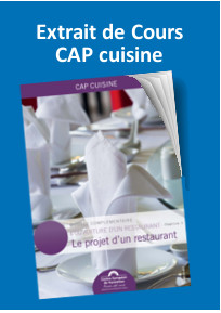 Cap cuisine sp cialisation cr ation de restaurant for Cap decorateur interieur