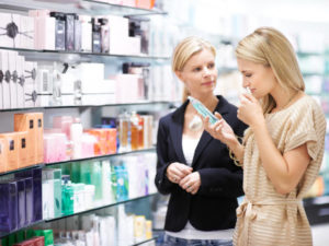 métier vendeuse parfumerie