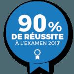 90% de réussite à l'examen cap 2017